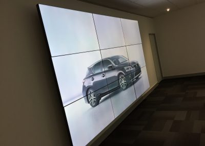 Toyota Training Centre Derby Reception Video Wall