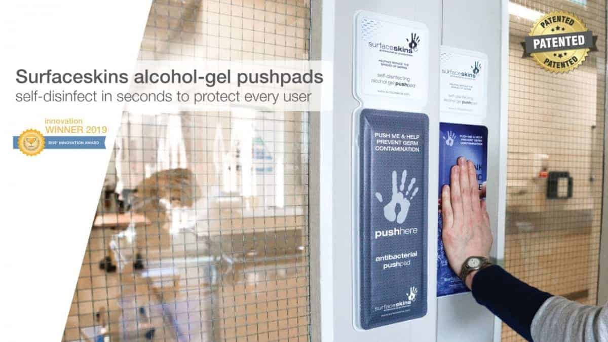 antibacterial door push plate surfaceskins london